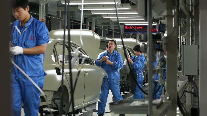 Das Volkswagen-Werk in Nanjing, nahe Schanghai. Bei der Rückrufaktion geht es um Schwierigkeiten mit einem bestimmten Typ von Doppelkupplungsgetrieben.
