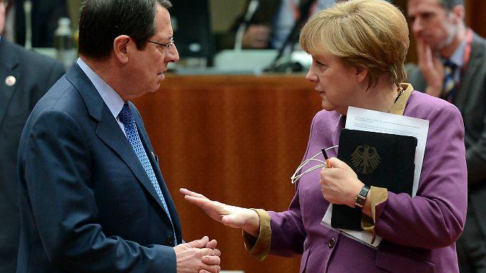 Zyperns Präsident Nicos Anastasiades und Bundeskanzlerin Angela Merkel.