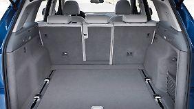 Der Kofferraum des Q5 ist üppig.
