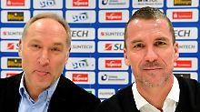 Kurzes Vergnügen: Ex-Manager Andreas Müller und Ex-Trainer Marco Kurz.