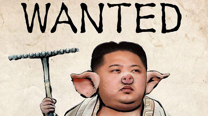 Bei Flickr ist diese Karikatur Kims zu finden.