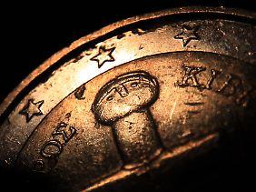 Teil einer zyprischen 2-Euro-Münze.