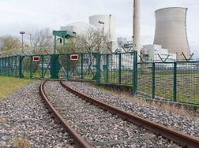 """""""Kernkraft nicht nachhaltig"""": AKW Philippsburg."""