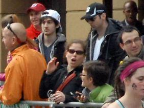 Tamerlan und Dschochar Zarnajew am Tag des Anschlags in Boston.