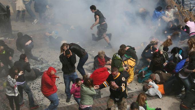 Drei Menschen starben bei dem Anschlag am 15. April.