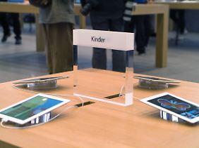 Apple hat auch an einen Platz für Kinder gedacht - natürlich mit iPads.