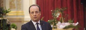 Frankreichs Staatschef Hollande plagen derzeit miese Umfragewerte.