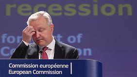 Prognose der EU-Kommission: Eurozone verharrt in der Krise