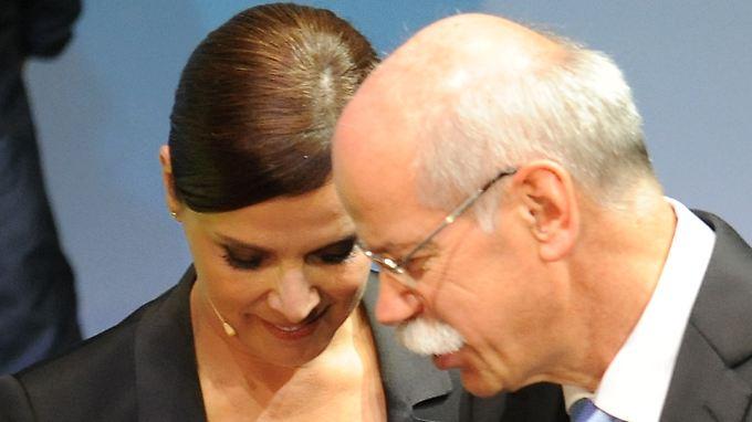 Da waren sie definitiv kein Paar: Désirée Nosbusch und Dieter Zetsche gemeinsam bei einer Veranstaltung 2011.