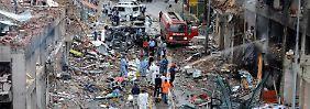 Schwere Zerstörungen in Reyhanli.