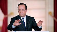 Frankreichs Präsident nach einem Jahr extrem unbeliebt: Hollande will mehr Europa und weniger Rente