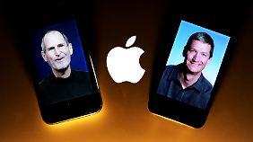 Apple-Gründer Steve Jobs (l) und sein Nachfolger Tim Cook: Seit 30 Jahren vermeidet Apple über irische Tochtergesellschaften Milliarden an Steuern.