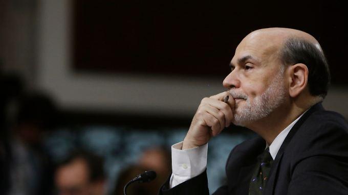 """Fed-Chef Ben Bernanke denkt noch nicht an den """"Exit""""."""