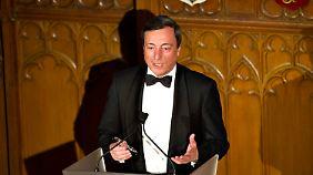 Raus aus der Euro-Krise: EZB-Chef Draghi verbreitet Optimismus