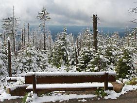 Es ist der 24. Mai 2013! Auf dem Brocken ist eine Winterlandschaft zu bestaunen.