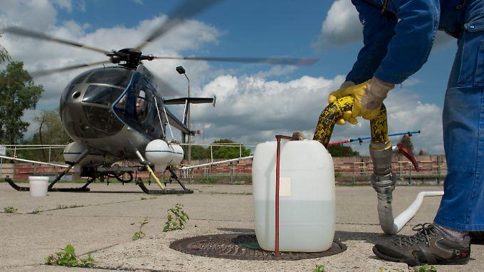Umweltverbände lehnen die Hubschraubereinsätze ab. Das Gift kann auch Vögel und Schmetterlinge schädigen.