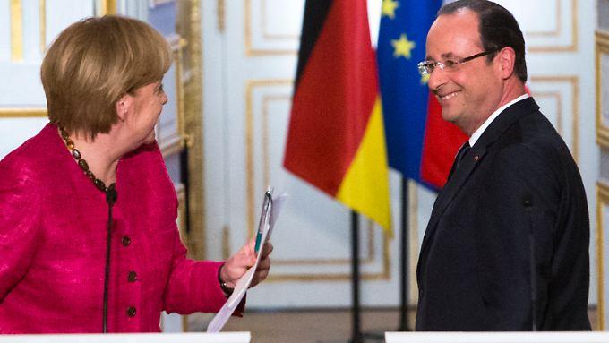 Angela Merkel und François Hollande müssen sich zusammenraufen.