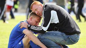 Den Sportfreunden Lotte von Trainer Maik Walpurgis bleiben nur Tränen.