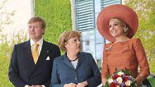 Mit Hut überragte Maxima alle.