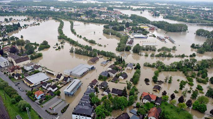 Viele Ortschaften sind überflutet.