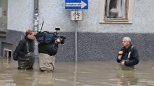 Carsten Lueb berichtet für n-tv aus dem Passauer Hochwasser.