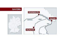 An der Donau in Bayern geht das Wasser zurück - und offenbart die vielen Schäden.