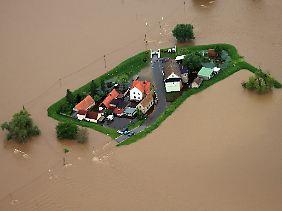 Nördlich von Eilenburg sind nicht alle Gemeinden gegen das Hochwasser gewappnet.