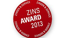 Top-Konditionen und Top-Service: Zins-Award 2013 verliehen