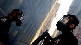 Die türkische Polizei ist gut ausgerüstet.
