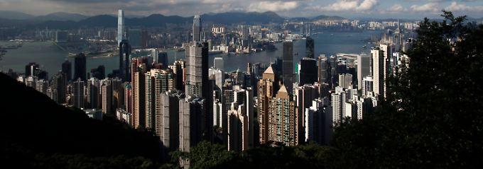 Blick auf Hongkong.
