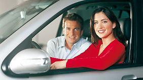 Nicht zu übersehen: Die meisten Autofahrer haben Spaß.