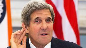 US-Außenminister John Kerry will Snowden schnell fassen.