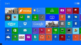 """Nutzer haben unter Windows 8.1 mehr Möglichkeiten, die Oberfläche nach ihren Wünschen zu gestalten. Und links unten ist auch ein """"Start-Fenster""""."""