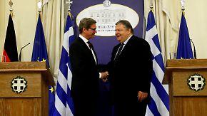 Guido Westerwelle besucht den griechischen Premier Venizelos in Athen zu Gesprächen über die griechische Krise.