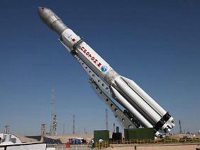 Eine Rakete vom Typ Proton-M.