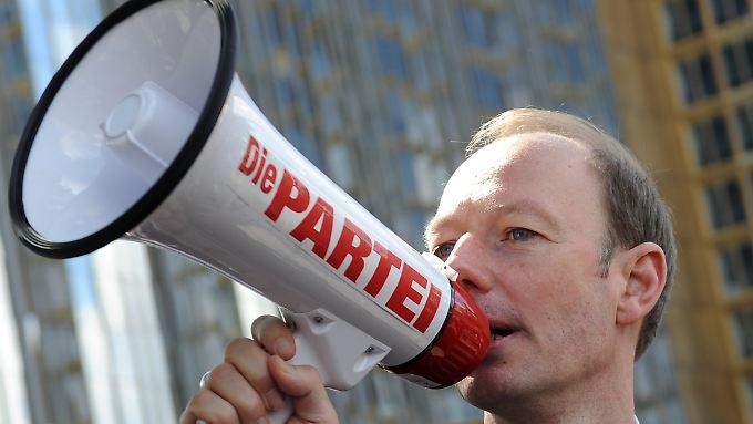 """Will die EU """"melken wie ein kleiner südeuropäischer Staat"""": """"Partei""""-Chef Martin Sonneborn."""