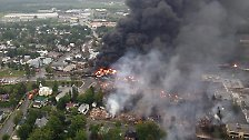 Das tatsächliche Ausmaß der Explosionen ist erst zu sehen, ...