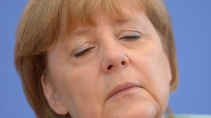 Angela Merkel in der Bundespressekonferenz.