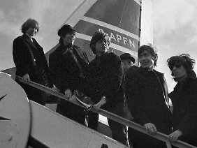 Brian Jones, Keith Richards, Mick Jagger, Charlie Watts und Bill Wyman 1964.