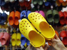 In den Schuhen des Originals, der Marke Crocs, fanden sich keine PAK.