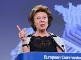 EU-Kommissarin Neelie Kroes. Foto: Olivier Hoslet/Archiv