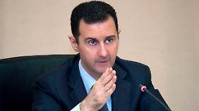 Syriens Diktator Assad.
