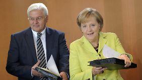 Zwischen 2005 und 2009 war Steinmeier Merkels Außenminister.