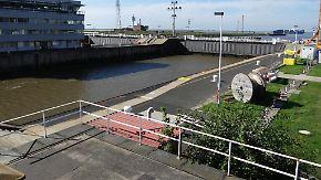 Blockade am Nord-Ostsee-Kanal: Verdi will Schleusenarbeiter-Streik verschärfen