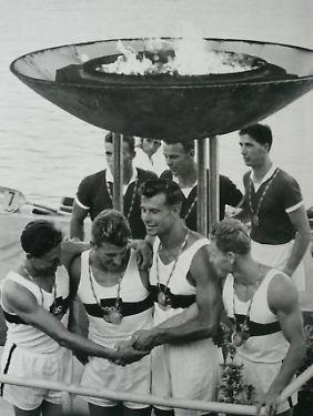 Olympische Spiele 1960: die Gewinner von Rom mit Günter Perleberg, 2.v.r.