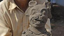 Fundsache, Nr. 1216: Seltene Jaguar-Figuren der Maya