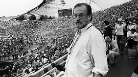 """Rau managte die """"Rolling Stones"""" beim Konzert im Olympiastadion in München im Juni 1982."""