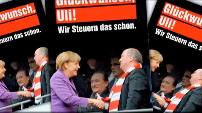 Angriff auf Merkel über Hoeneß.