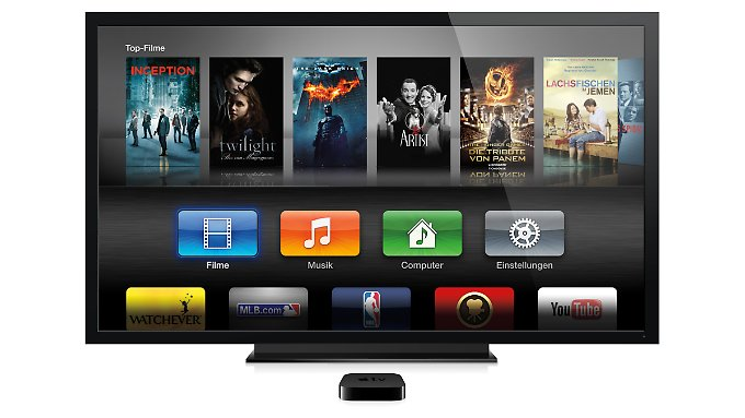 """Aus der kleinen Box Apple TV soll Gerüchten zufolge bald ein """"richtiger"""" Fernseher werden."""
