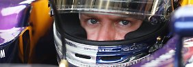 """Plattfuß, Plattfuß, hinten links. Nein, sorry, hinten rechts"": Sebastian Vettel."